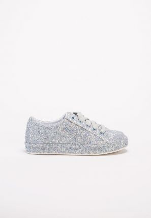 Teenagers Metallic Sequins Sneakers