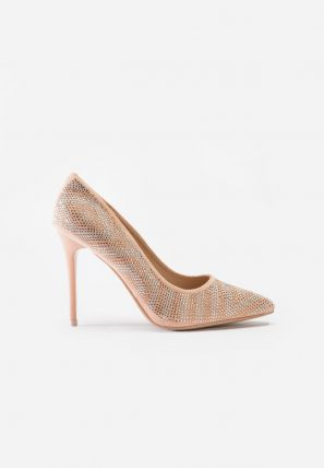 Leather Pump With Stone