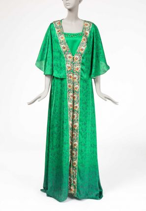 Printed Jalabiya With Attached coat