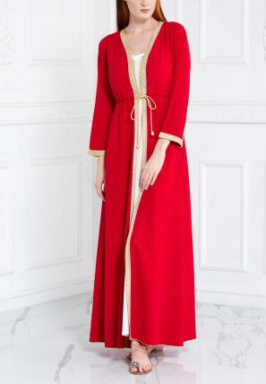 Open Bisht With Lace