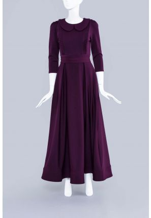 Front Pleated Multicolor Long Dress