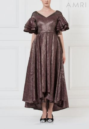 High - Low Flared dress