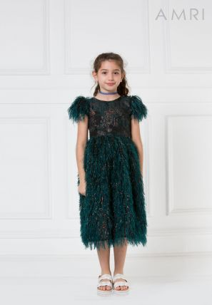 Feather Textured Jacquard Frock
