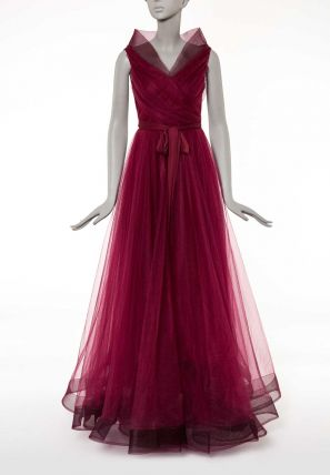 Wrap Over Ball Gown Dress