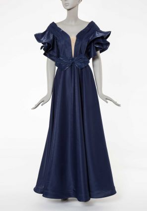 Layered Sleeve Ball Gown Dress