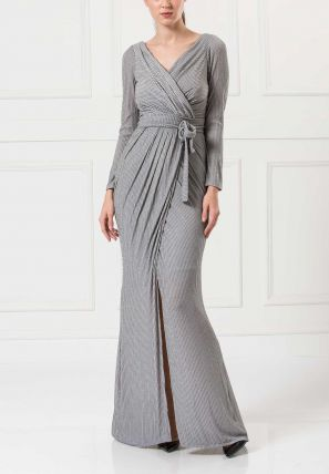Pleated Wrap Over Dress
