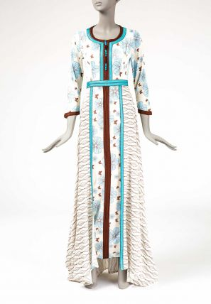 Symmetrical Double Printed Layered Dress