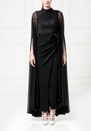 Cape Sheath Dress