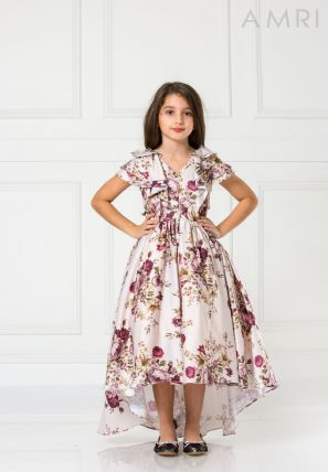Floral Printed Ball Gown