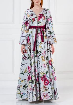 Printed Ball Gown