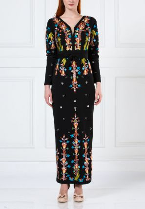 Embroidered Body-cone Dress