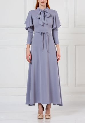 Flared Dress With Neck Tie