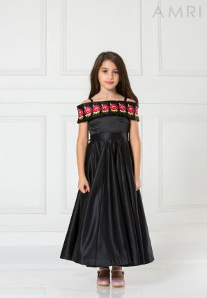 Embroidered Flared Frock
