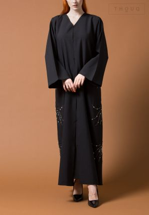 Symmetrical Embroidered Abaya