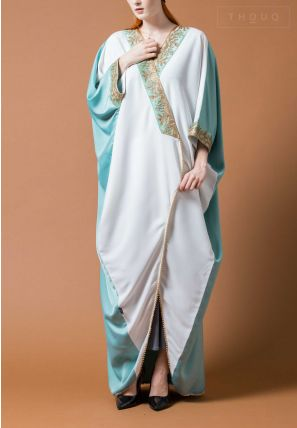 Caftan Cut Abaya With Laces