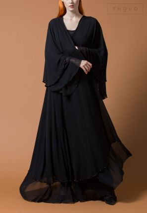Layered Embellished Abaya
