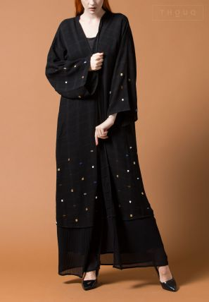 Layered Abaya With Embellishment