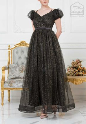 Wrap Over Ball Gown