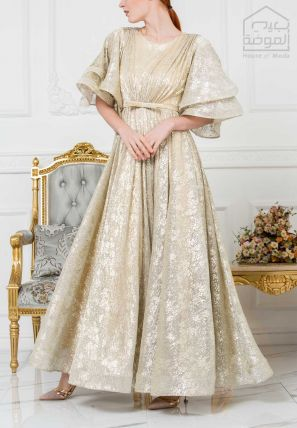 Pleated Ball Gown