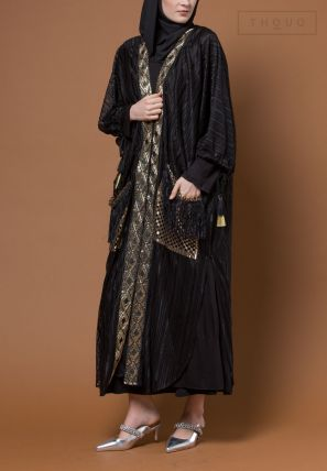 Lace Bisht With Pockets