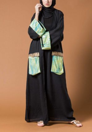 Open Bisht With Double Pockets